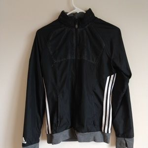 Adidas jacket black and grey